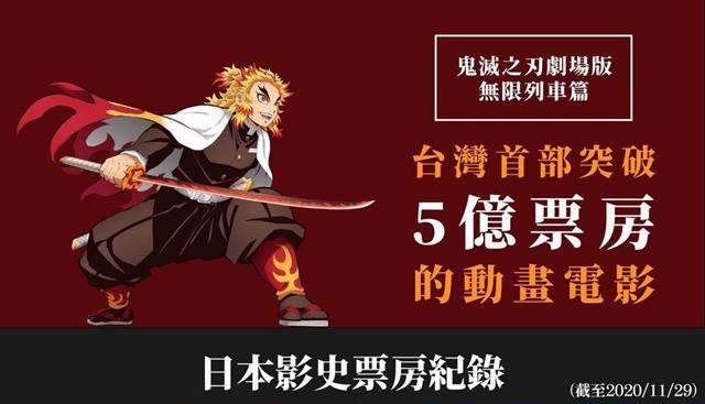 鬼滅の刃台湾5億