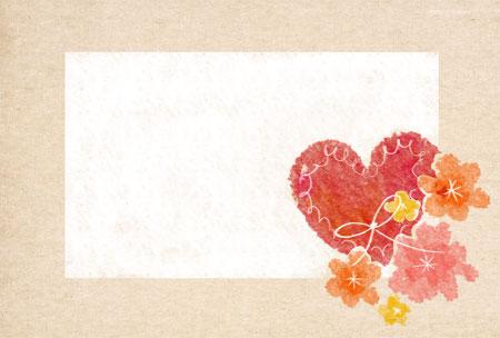バレンタインカード無料テンプレート
